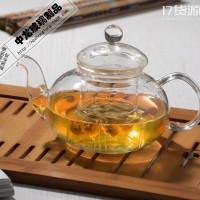 直销经营加工定制:网店货源热销加厚耐热玻璃茶具套装   花茶壶       花草茶壶       玻璃茶具
