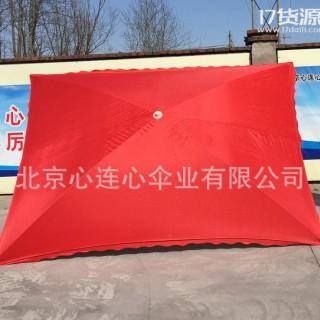 心连心 地摊伞 四片遮阳方伞 方形铁管广告伞  售货伞