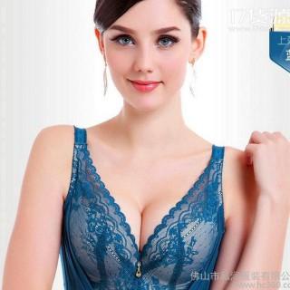 工厂新款全罩杯厚.薄杯可选蕾丝调整型文胸 1231 微店