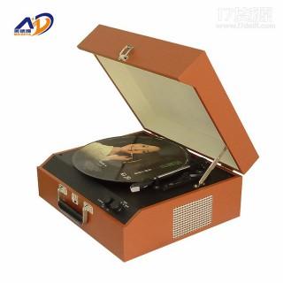 美德雅MDY-1608留声机,一件代发创意仿古蓝牙音响 黑胶唱片机PU复古留声机木质欧式摆件