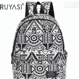RUYASI女士时尚双肩包日韩版个性运动旅行包电脑直销一件代发