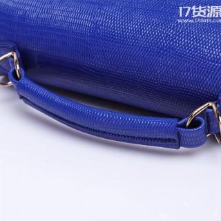 2017新款百搭箱形小方包水波纹磁扣单肩斜跨手提包PU女包