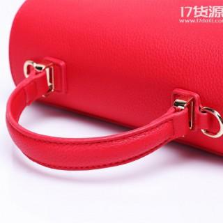 新款时尚韩版女包T字扣品牌女包荔枝纹休闲女式包包一件代发直销